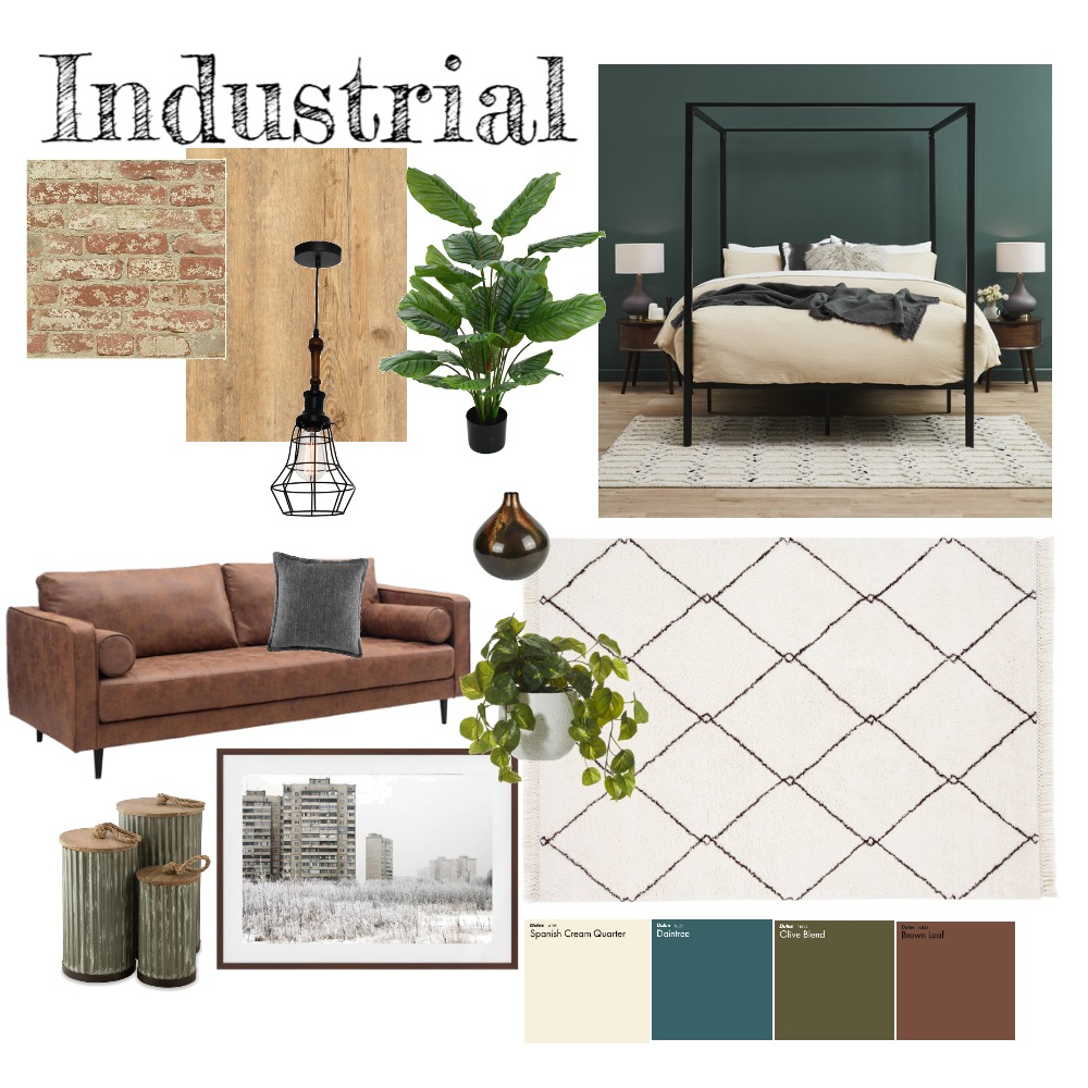 Industrial Loft Interior Design Mood Board by jessicasummers on Style Sourcebook