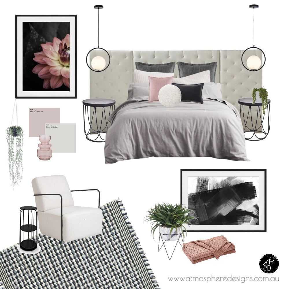 Contemporary Blush Master Suite Interior Design Mood Board by Atmosphere Designs on Style Sourcebook