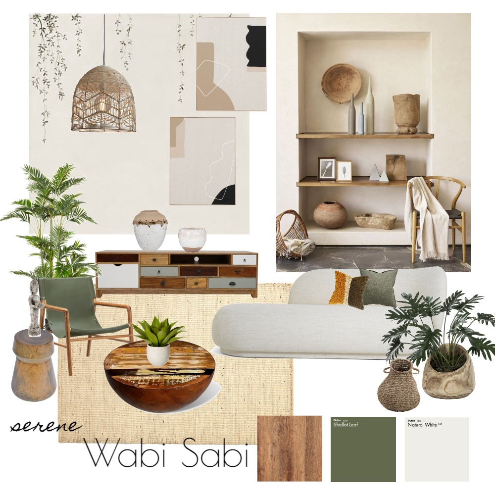 Wabi Sabi Living Interior Design Mood Board by EmmaLeh on Style Sourcebook
