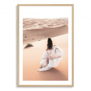 Desert Beauty | Boho Woman In Moroccan Desert by The Paper Tree, a Prints for sale on Style Sourcebook