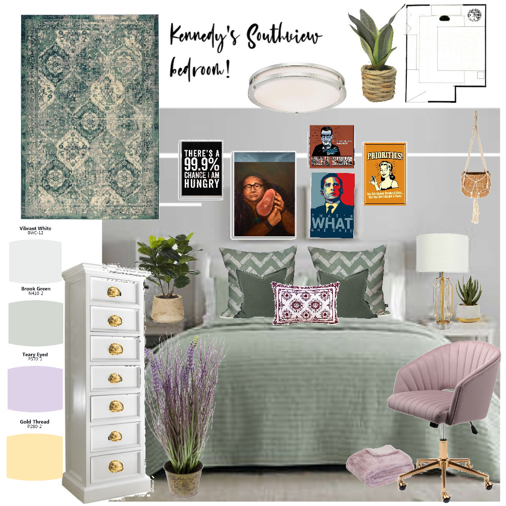 Kennedy bedroom Interior Design Mood Board by mambro on Style Sourcebook
