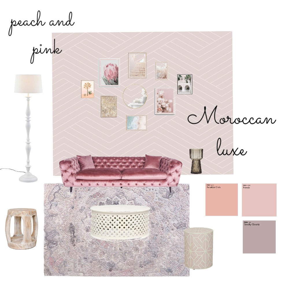 Peach and Pink Interior Design Mood Board by cindyjane1978 on Style Sourcebook