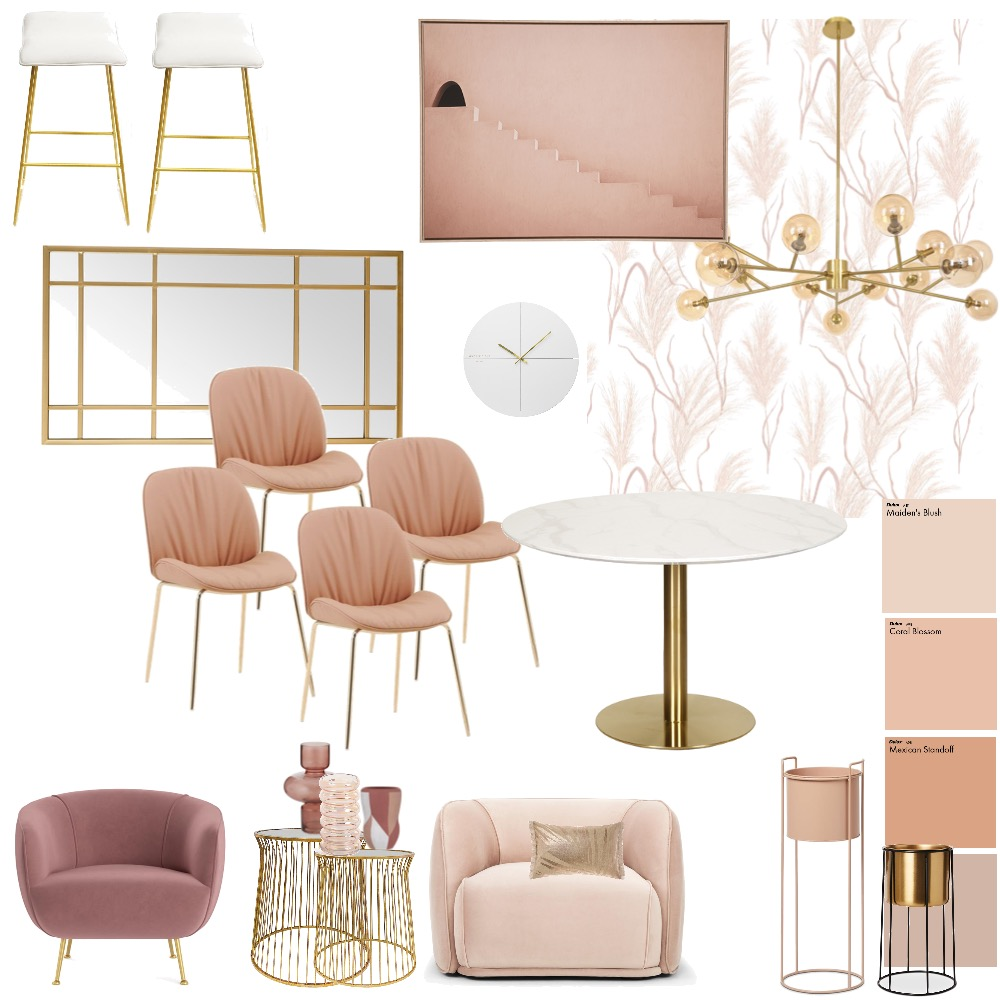 Luxe Dining Interior Design Mood Board by 81onthehill on Style Sourcebook