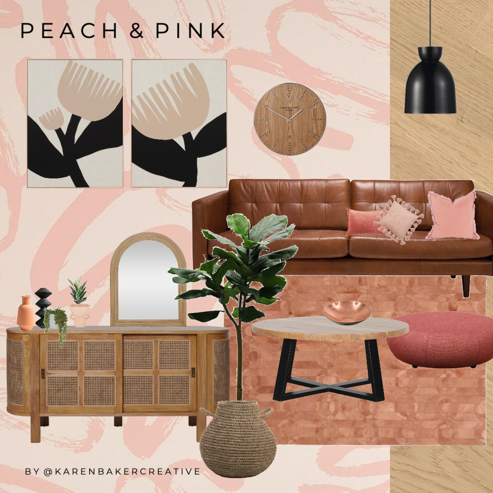 Peach and Pink Interior Design Mood Board by karenbakercreative on Style Sourcebook