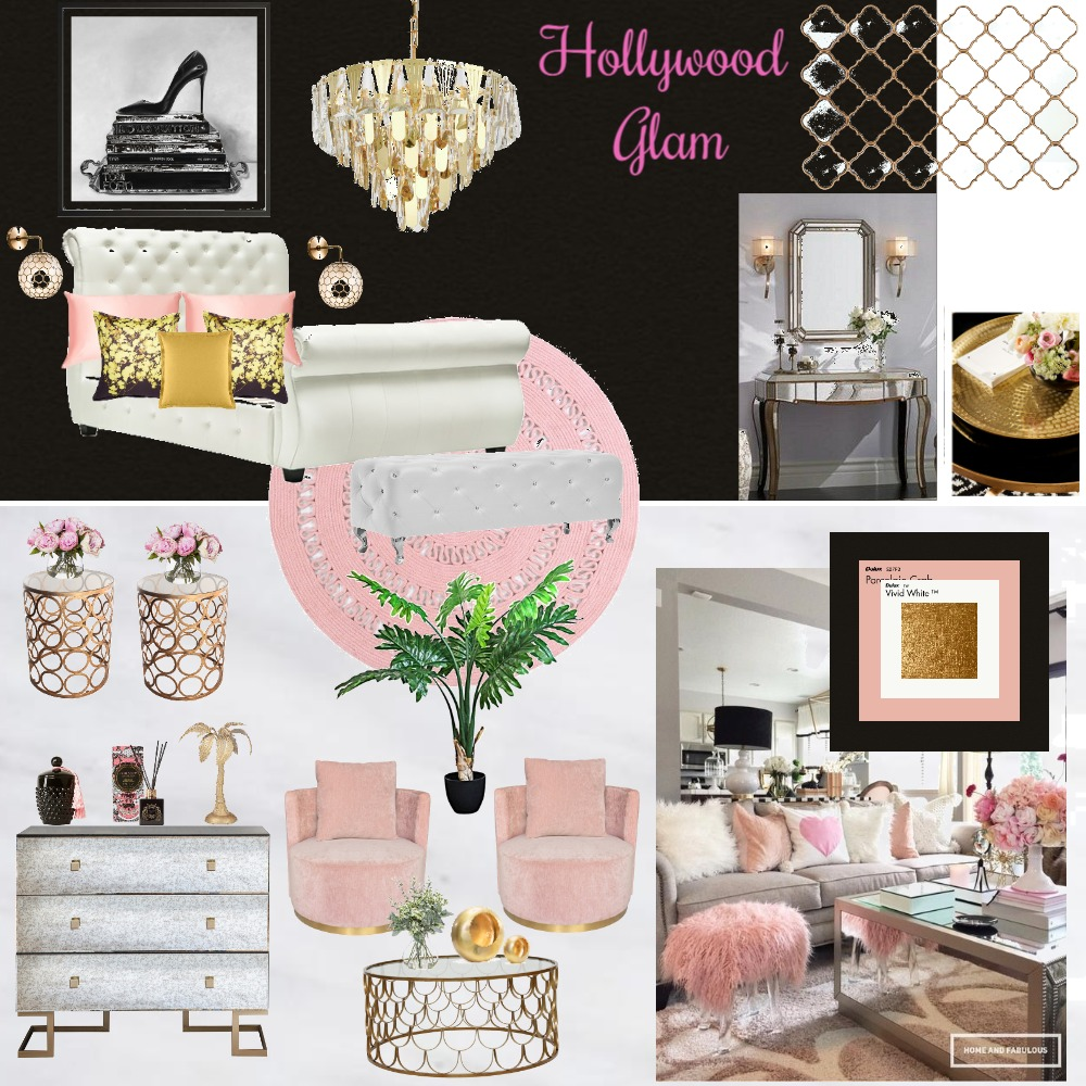 Hollywood Glam 13 trial Interior Design Mood Board by Giang Nguyen on Style Sourcebook
