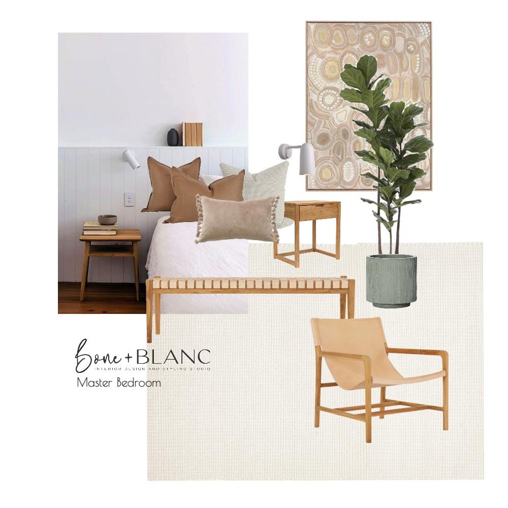 IVY Bedroom Interior Design Mood Board by bone + blanc interior design studio on Style Sourcebook