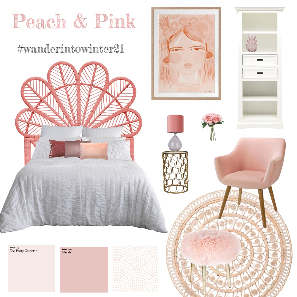 Peach and Pink Interior Design Mood Board by interiorology on Style Sourcebook