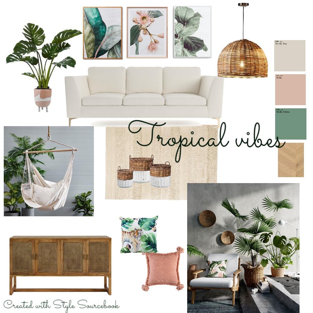 Modern Tropical Living Interior Design Mood Board by Ritu K on Style Sourcebook