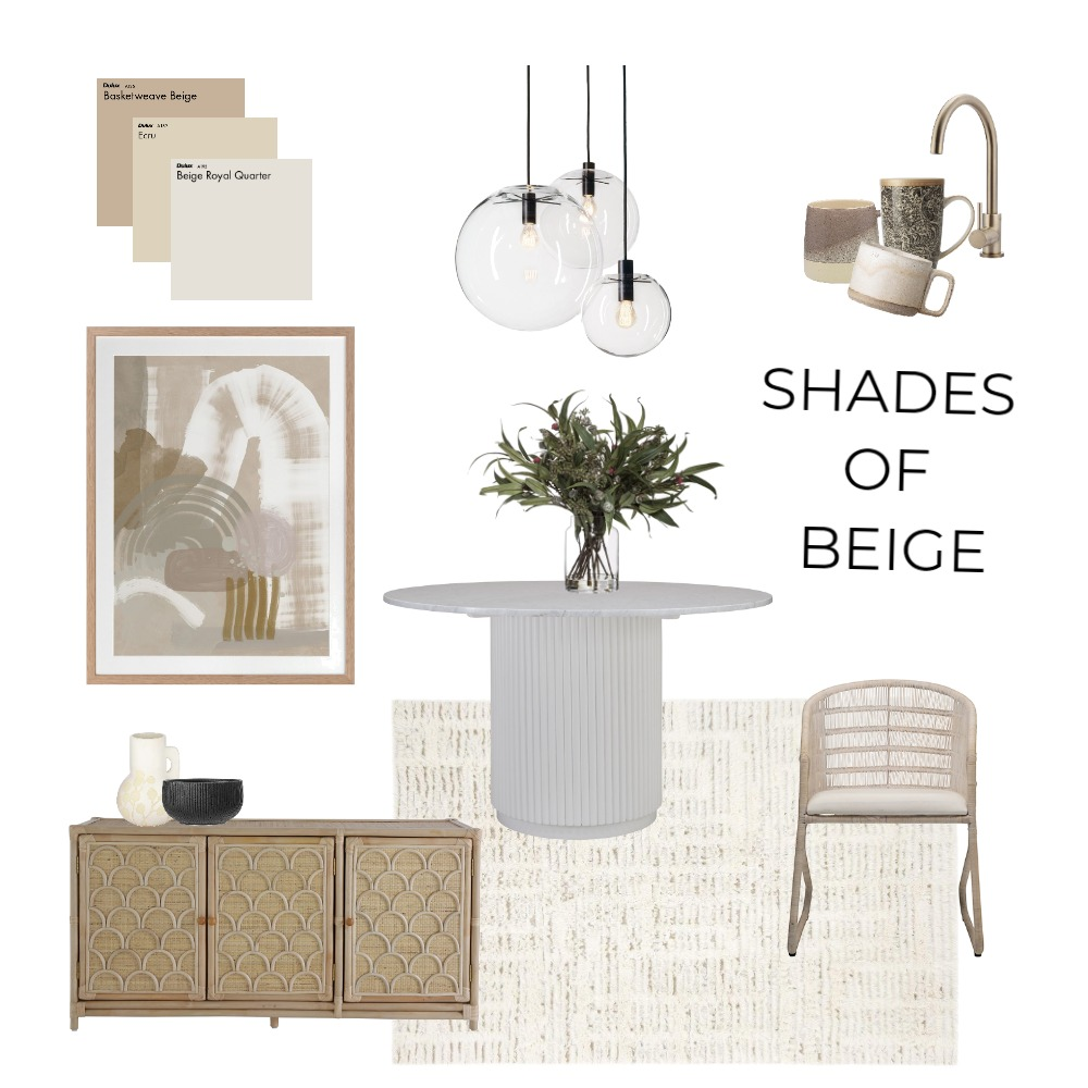 Shades of Beige Interior Design Mood Board by ExedraInteriors on Style Sourcebook