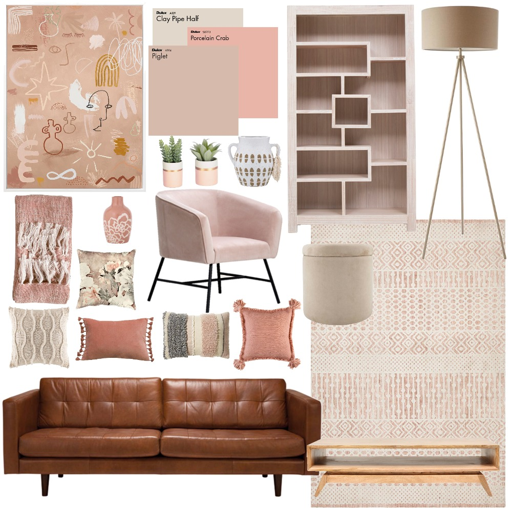 Peach & Pink Interior Design Mood Board by Zoe Pitcher on Style Sourcebook
