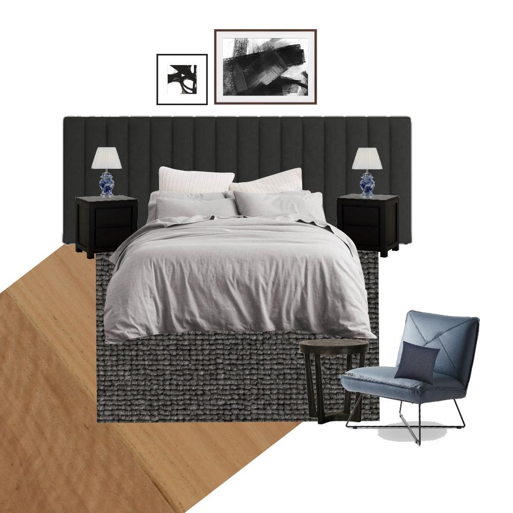 dark bedroom Interior Design Mood Board by terriburns on Style Sourcebook