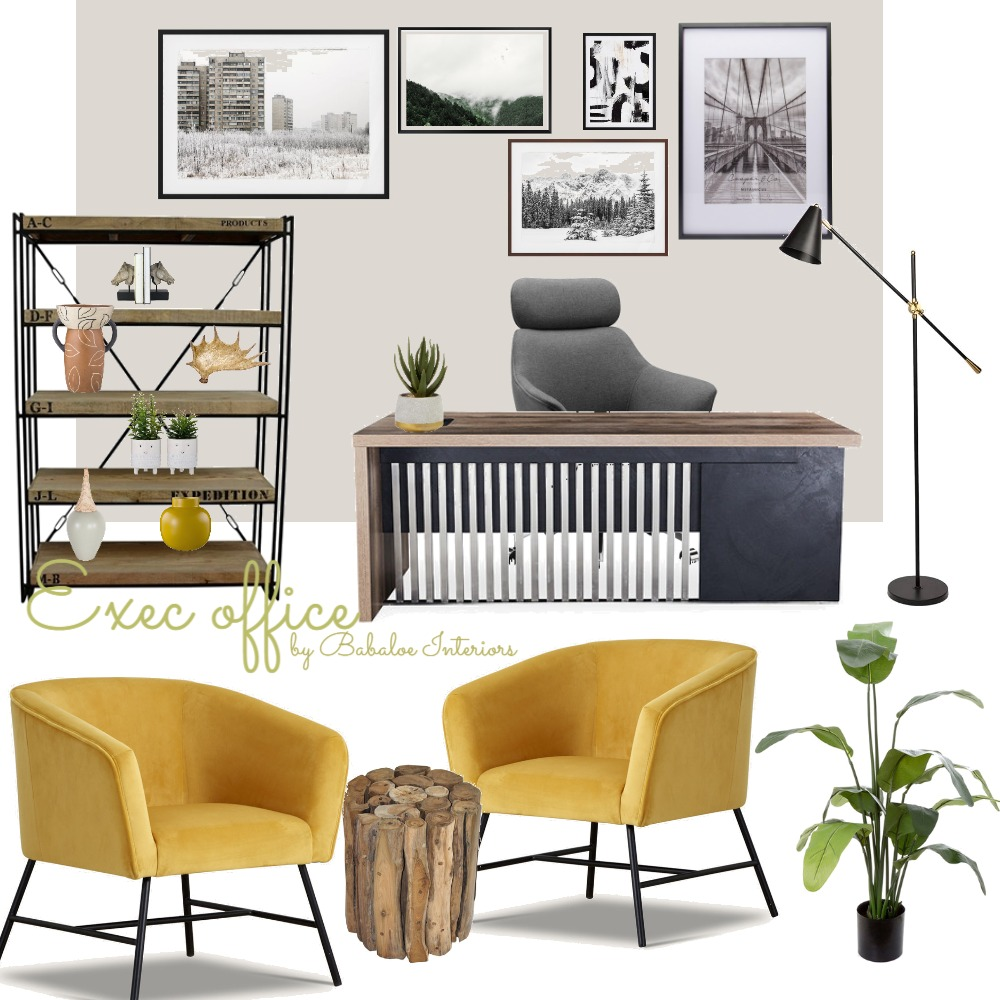 Exec office Interior Design Mood Board by Babaloe Interiors on Style Sourcebook