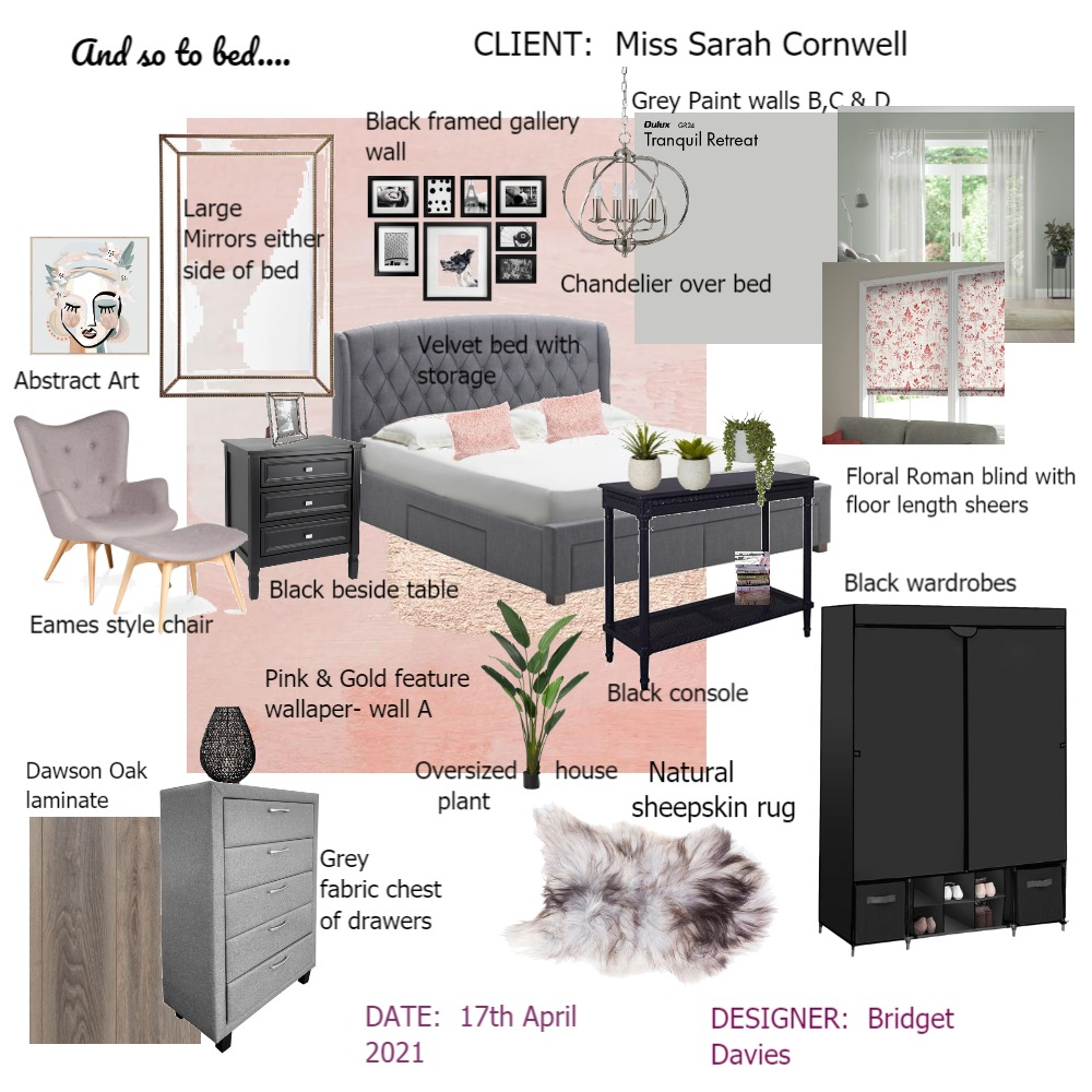 And so to bed... Interior Design Mood Board by Bridget Davies on Style Sourcebook