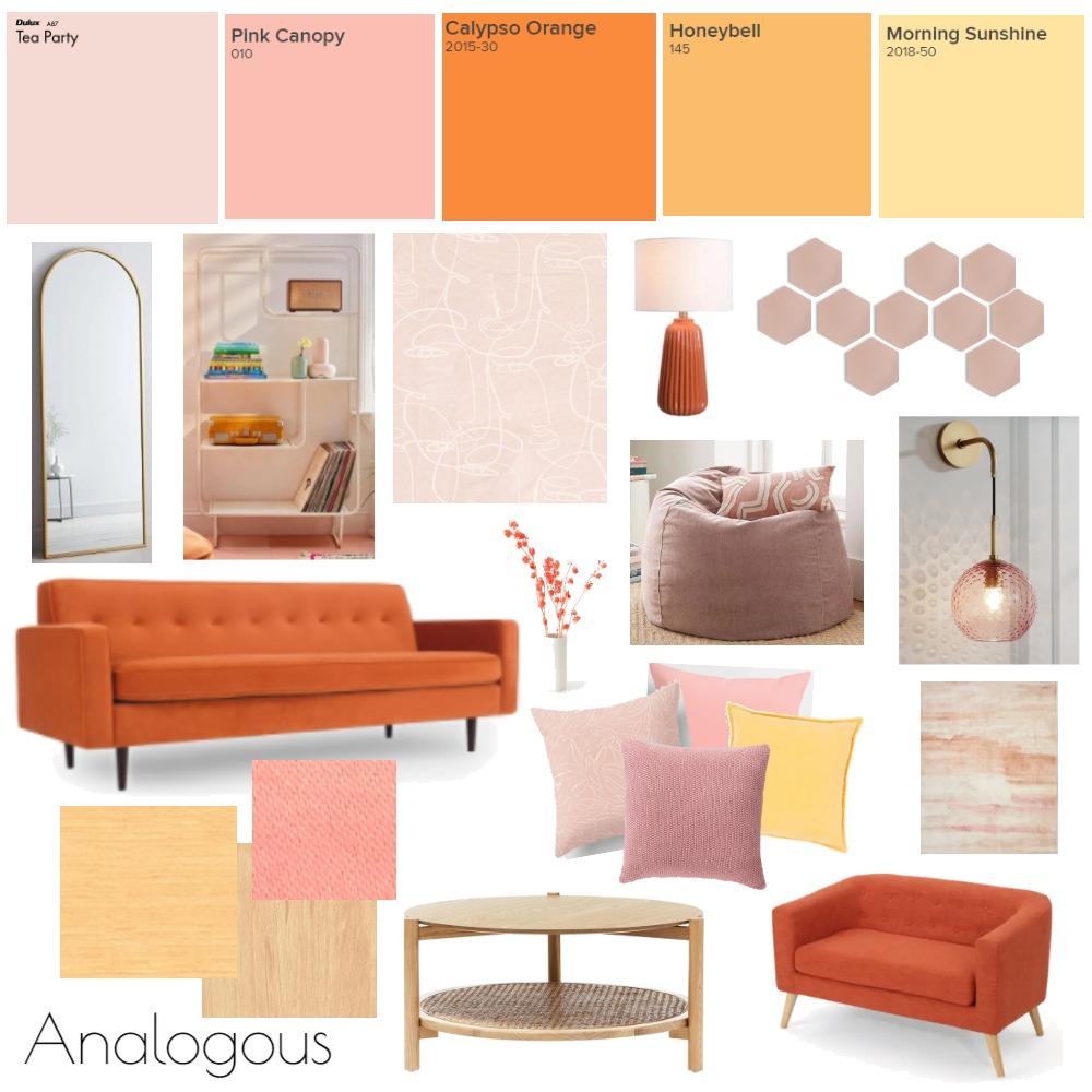 Analogous Orangey-Yellow Interior Design Mood Board by kt! on Style Sourcebook