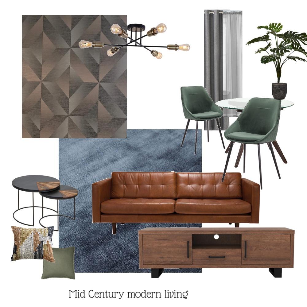 Mid Century Modern Living Interior Design Mood Board by DesignSudio21 on Style Sourcebook