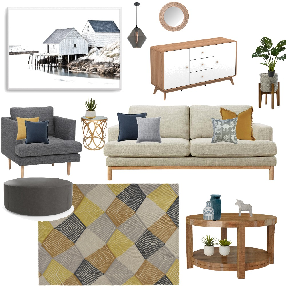 Grey Living Interior Design Mood Board by mariem on Style Sourcebook