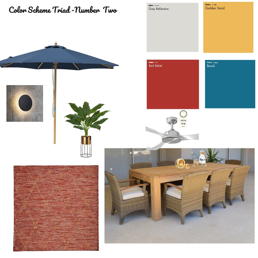 Color Scheme Triad-Number Two Interior Design Mood Board by zenic mujica on Style Sourcebook