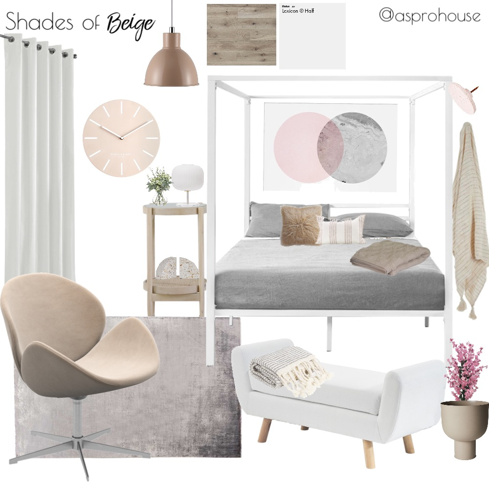 Shades of Beige Interior Design Mood Board by Asprohouse on Style Sourcebook