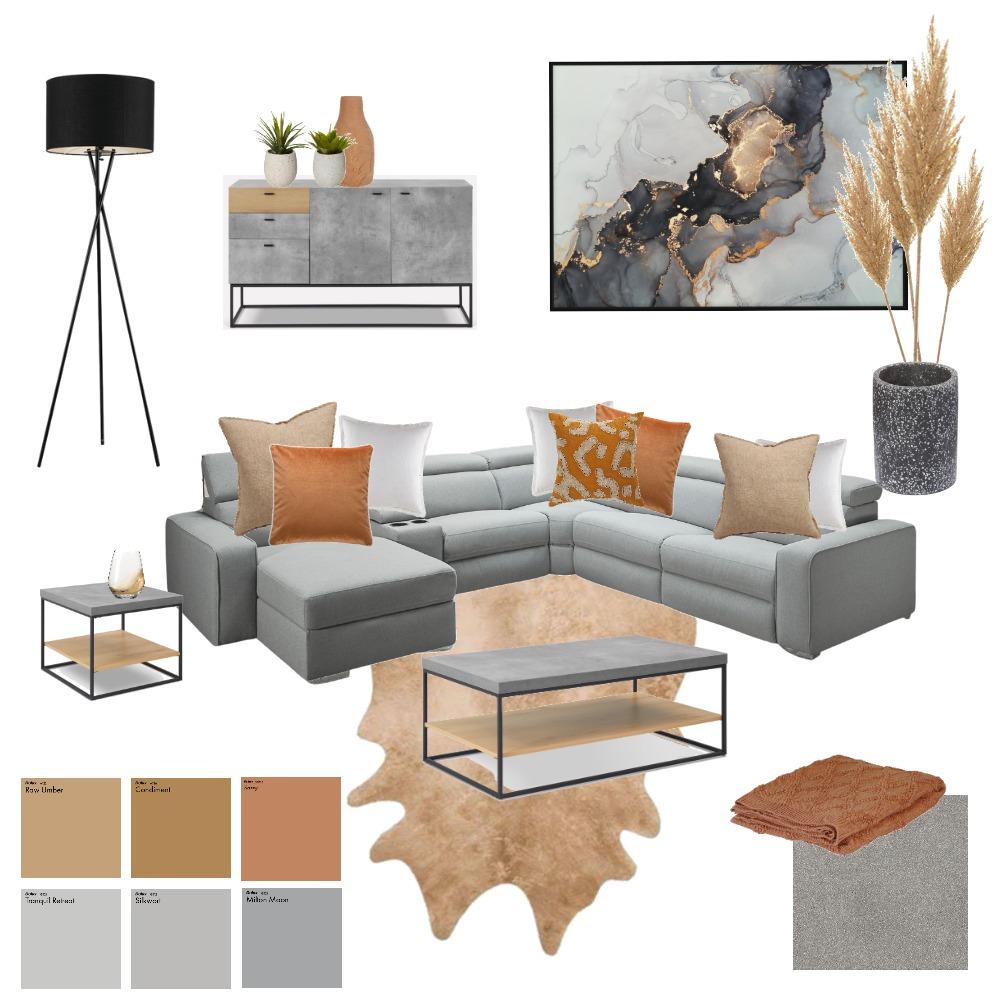 Burnt Orange Living Room Interior Design Mood Board by AV Design on Style Sourcebook