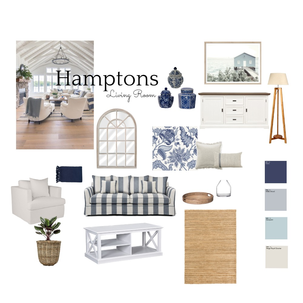 Hamptons Board Interior Design Mood Board by BrookeMcKayInteriors on Style Sourcebook