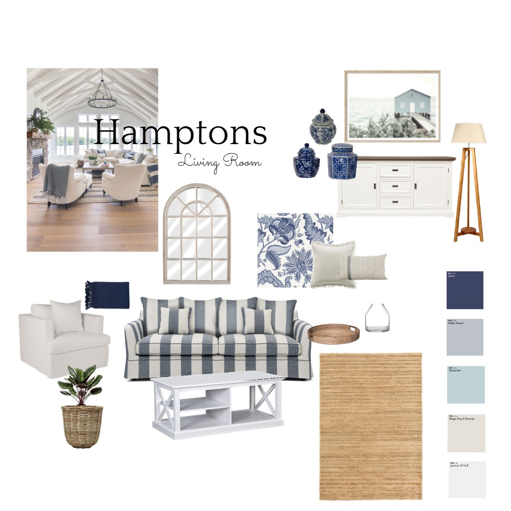 Hamptons Board * Interior Design Mood Board by BrookeMcKayInteriors on Style Sourcebook