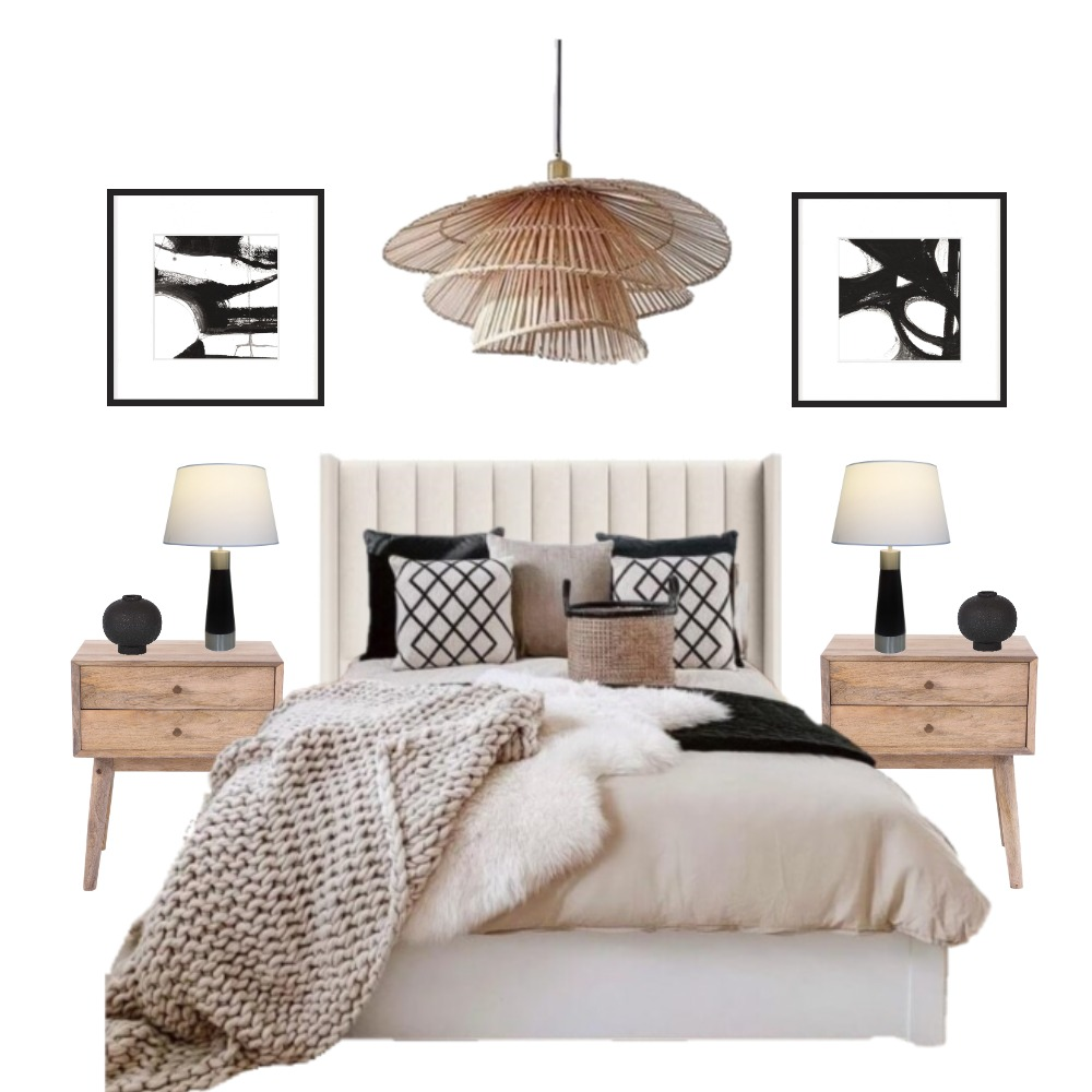 MB Boho chic bedroom 3 Interior Design Mood Board by Marina AR on Style Sourcebook