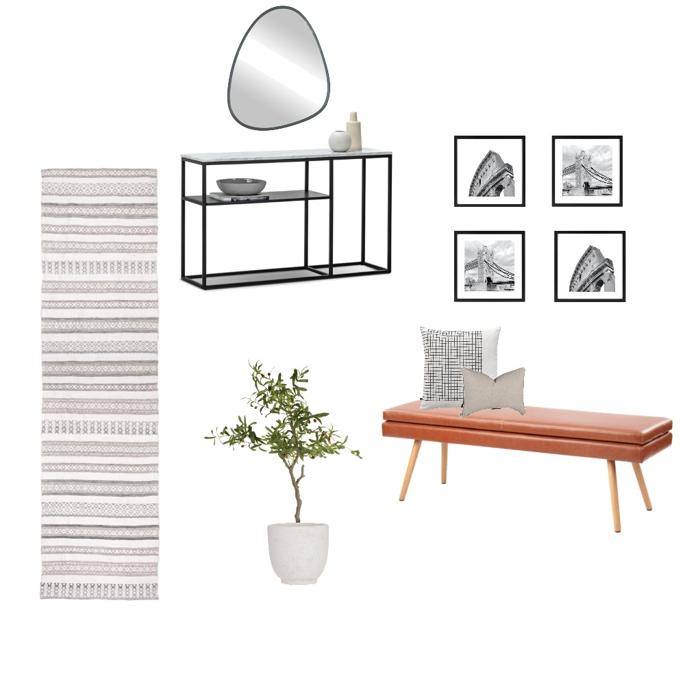 Renko Hallway Interior Design Mood Board by Williams Way Interior Decorating on Style Sourcebook