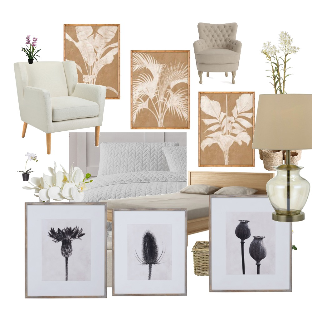Beige on White Bedroom Interior Design Mood Board by LittleLeah on Style Sourcebook