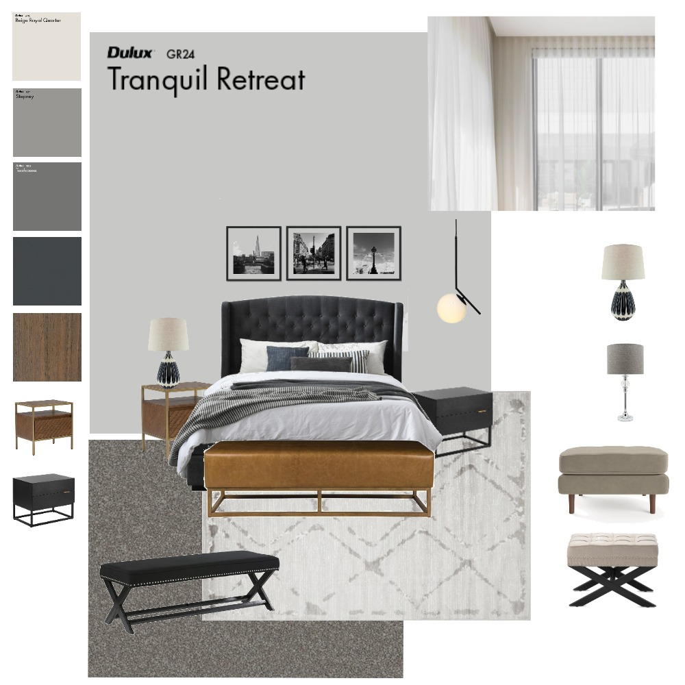 Master Bedroom Luxe Option 3 Interior Design Mood Board by Maksimas77 on Style Sourcebook