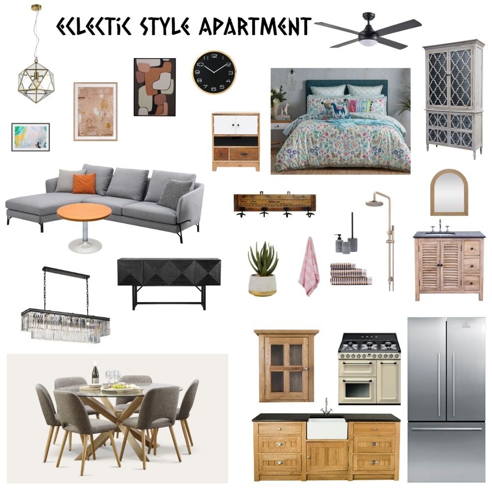 Eclectic Style Apartment Interior Design Mood Board by Alvin Biene on Style Sourcebook