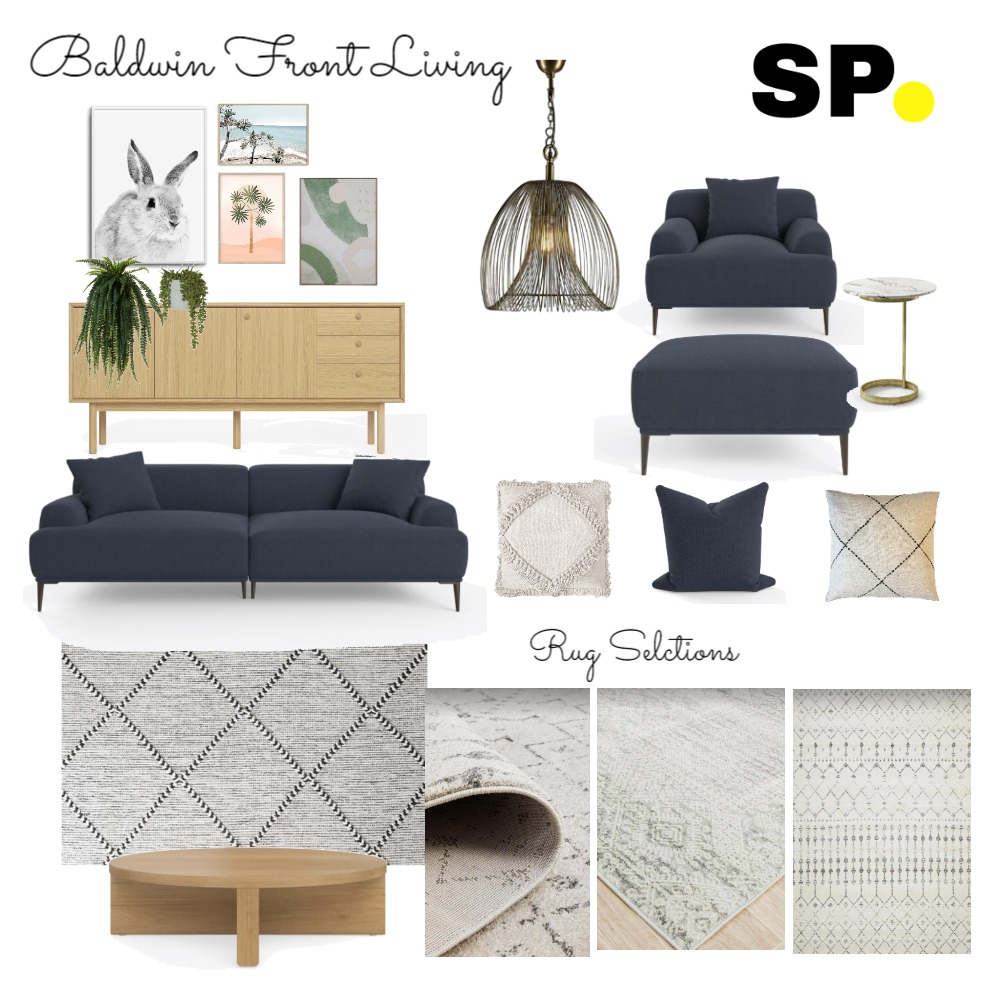 Baldwin Front Living Interior Design Mood Board by Six Pieces Interior Design  Qualified Interior Designers, 3D and 2D Elevations on Style Sourcebook