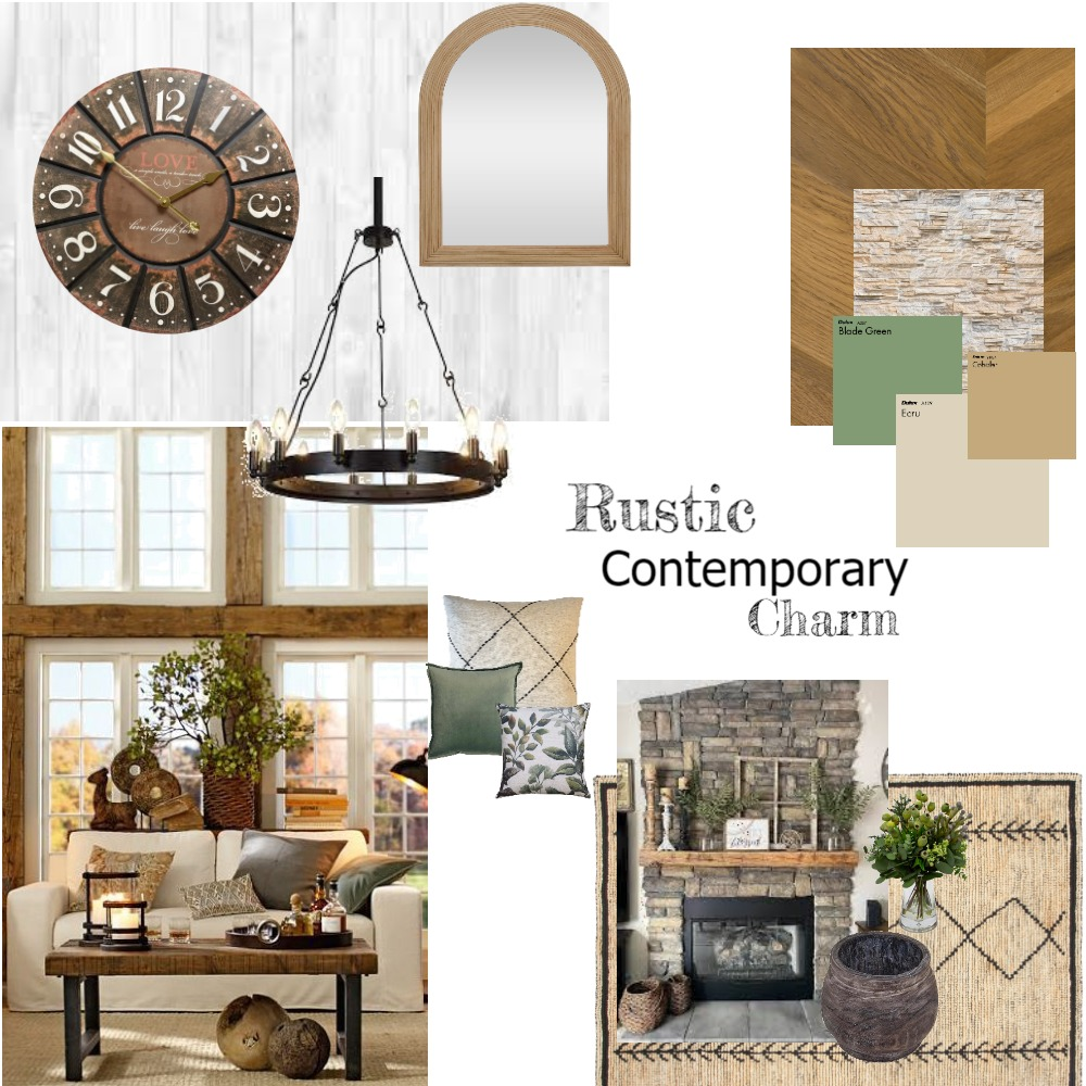 Rustic Contemporary charm Interior Design Mood Board by Design 09 on Style Sourcebook