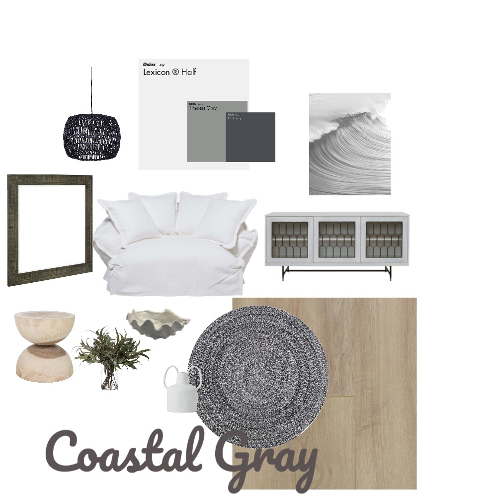 Costal Gray Interior Design Mood Board by Brooke Kafer on Style Sourcebook