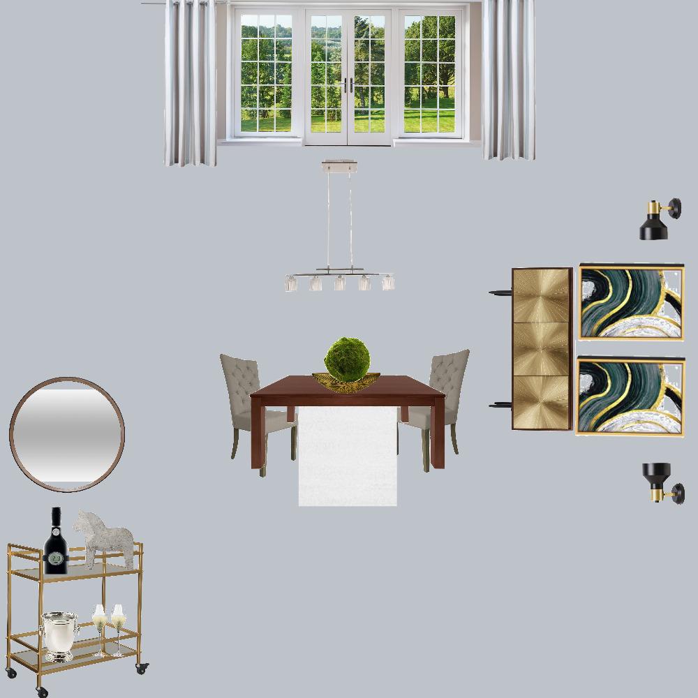 Santra Dining Room Interior Design Mood Board by RepurposedByDesign on Style Sourcebook