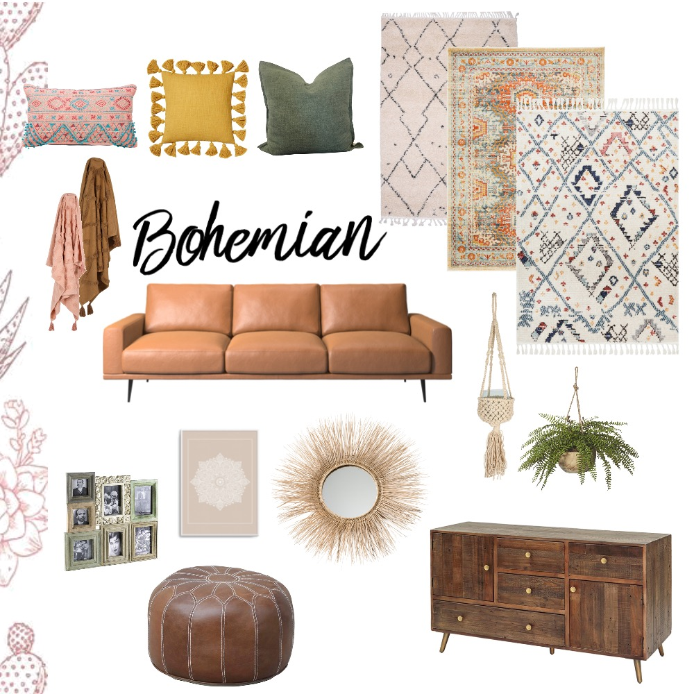 Bohemian Interior Design Mood Board by bron86 on Style Sourcebook