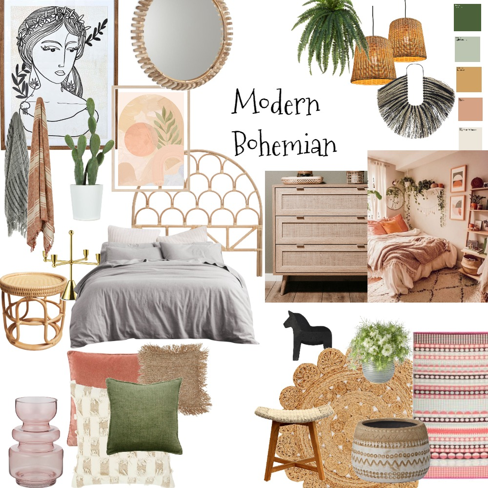 modern bohemian Interior Design Mood Board by teresa arena on Style Sourcebook