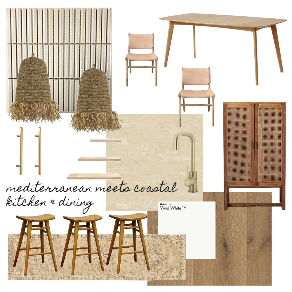 Mediterranean meets coastal kitchen and dining Interior Design Mood Board by Cottage by the Coast on Style Sourcebook