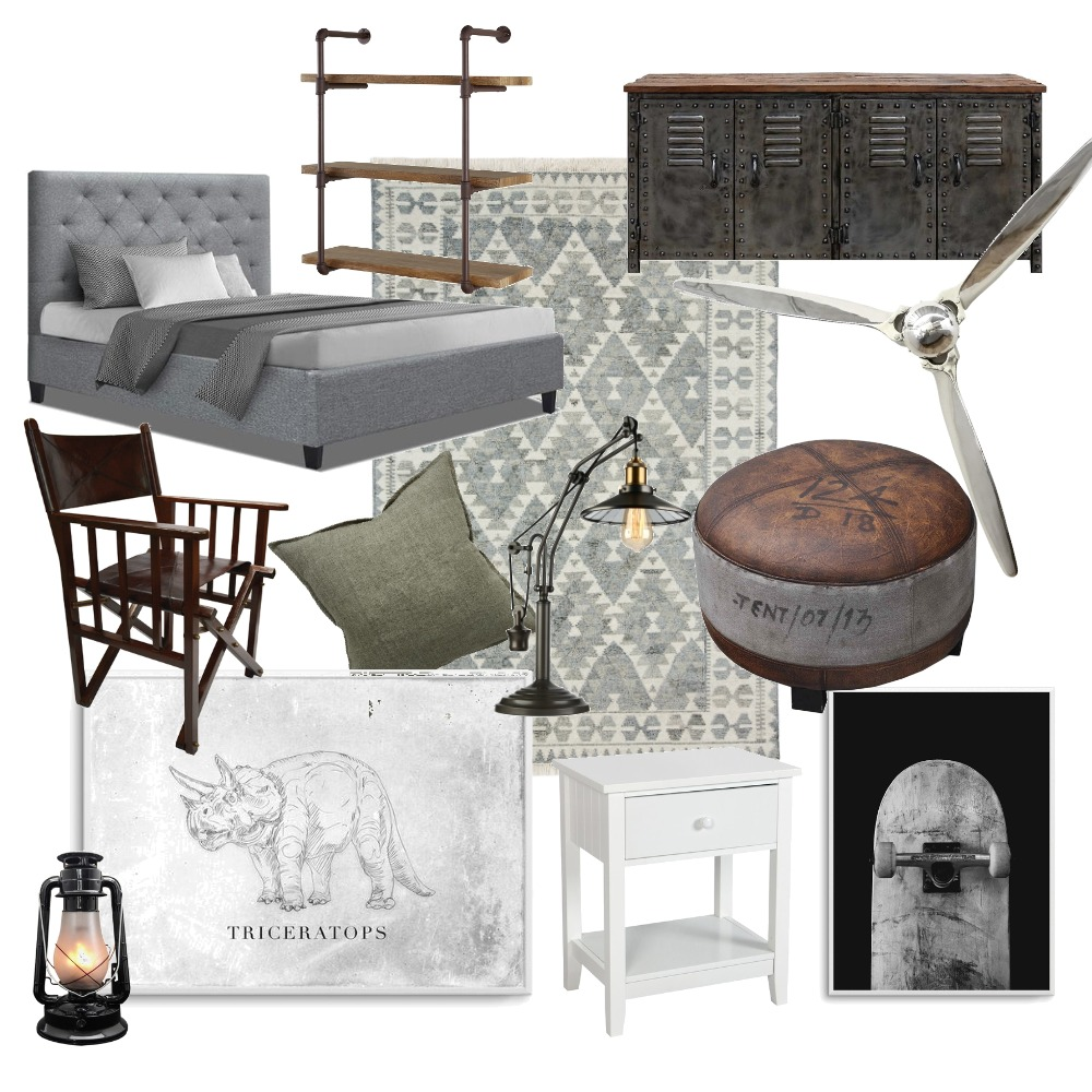 Boys Bedroom #2 Interior Design Mood Board by rebeccahauch on Style Sourcebook