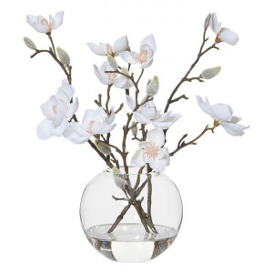 Magnolia in Sphere Vase (Artificial) Plastic Assorted Rogue by Rogue, a Plants for sale on Style Sourcebook