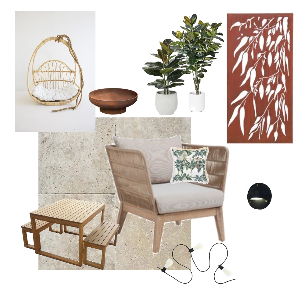 bakyard courtyard ideas Interior Design Mood Board by lizanderton on Style Sourcebook
