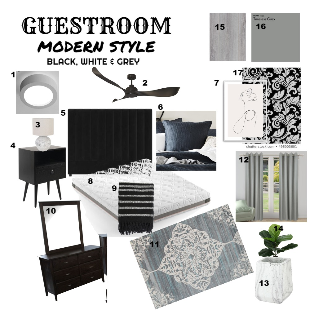 Guest bedroom Interior Design Mood Board by Spook103 on Style Sourcebook
