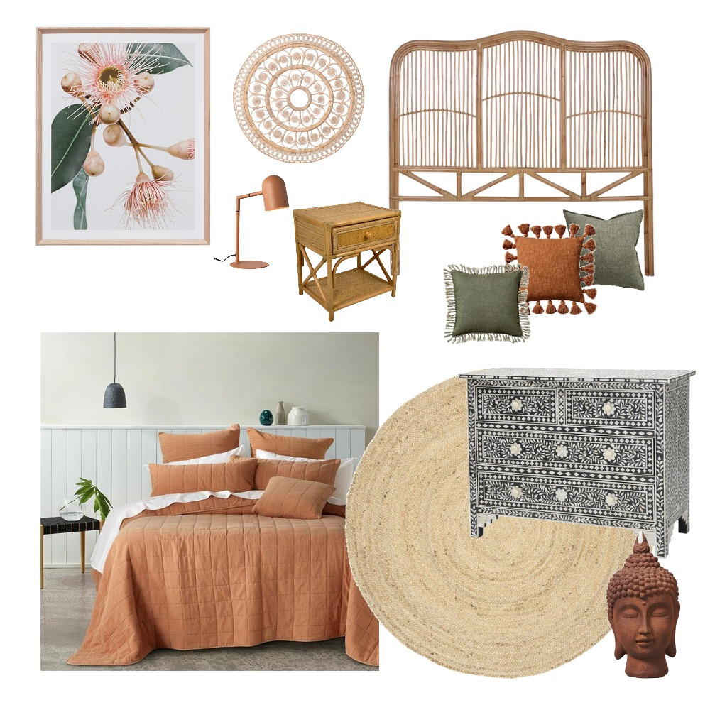 Spicy Bedroom Interior Design Mood Board by FeStyle on Style Sourcebook