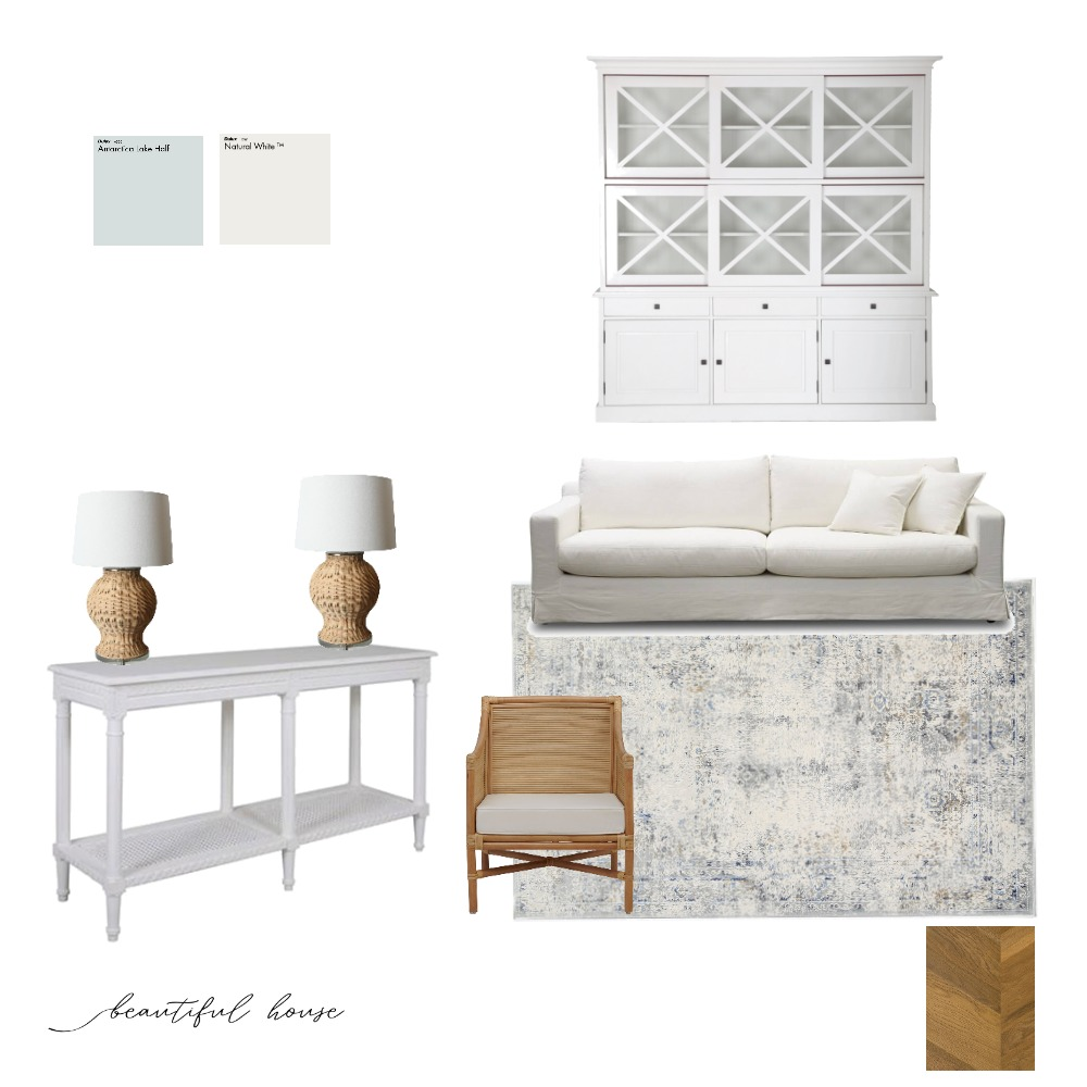 Coastal Living room Interior Design Mood Board by Beautiful House on Style Sourcebook