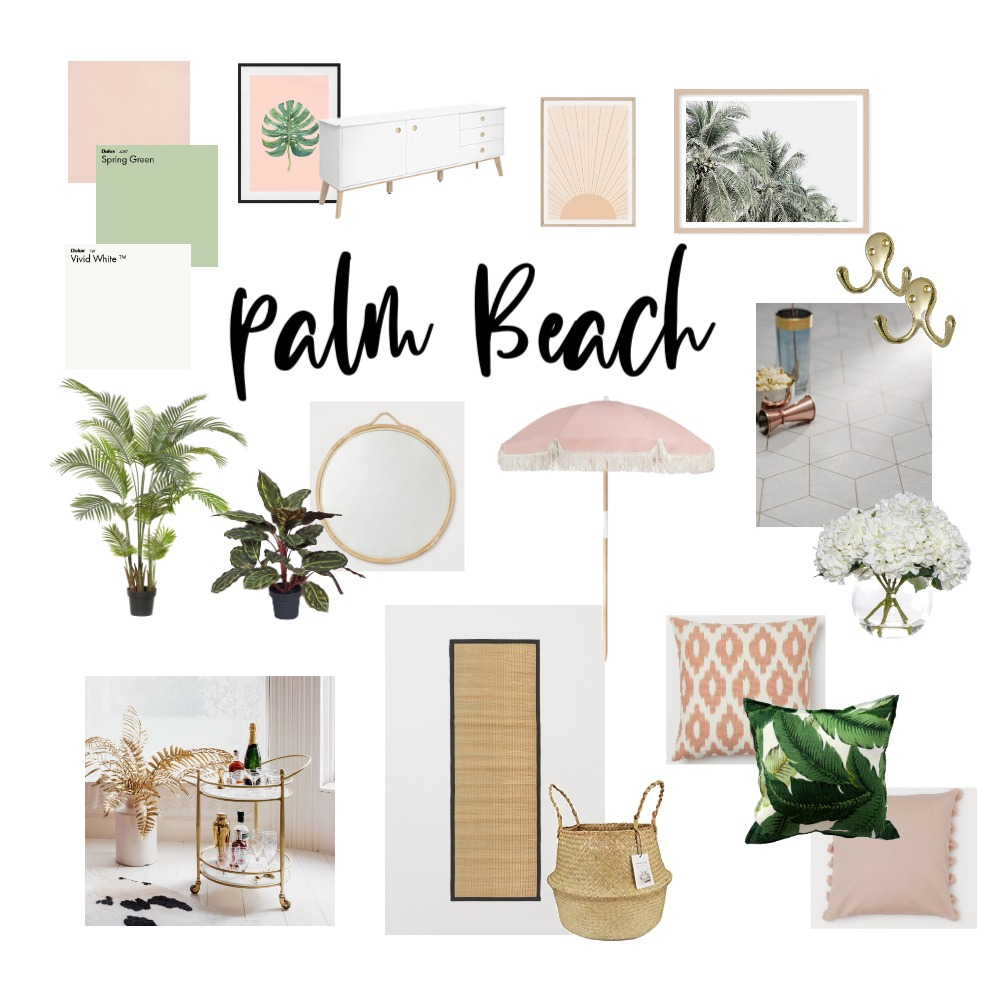 Palm beach Interior Design Mood Board by mymoderndollshouse on Style Sourcebook