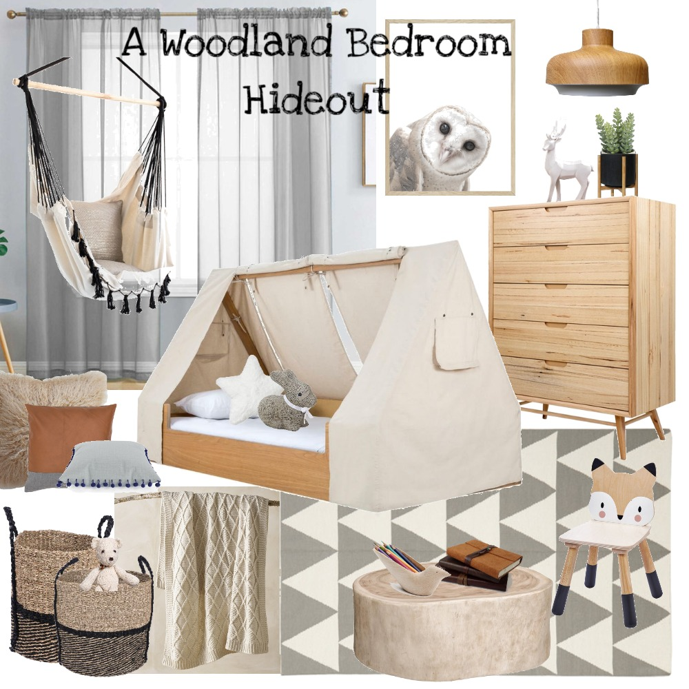 A Woodland Bedroom Hideout Interior Design Mood Board by DesignbyFussy on Style Sourcebook