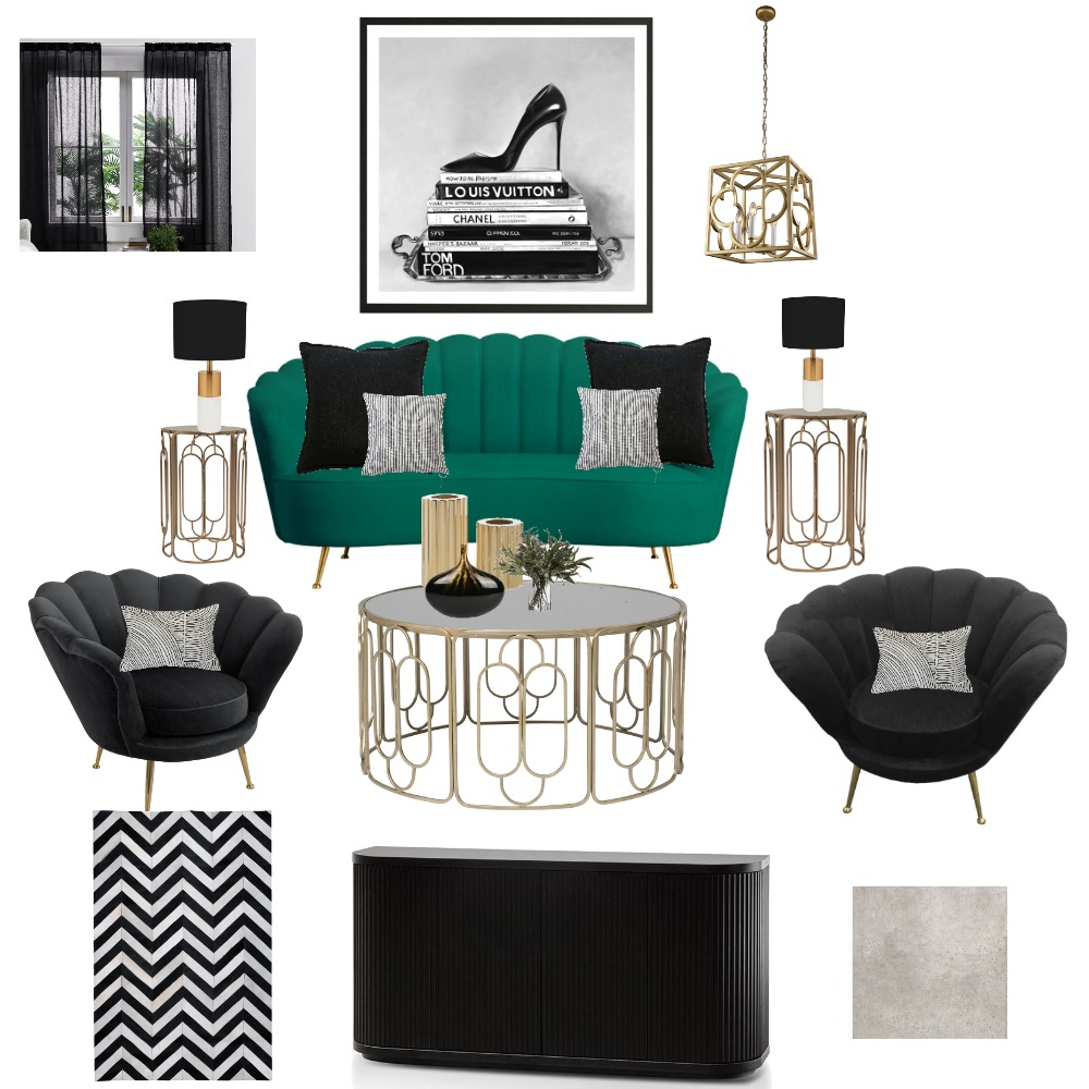 Hollywood Glam Interior Design Mood Board by jazzh on Style Sourcebook
