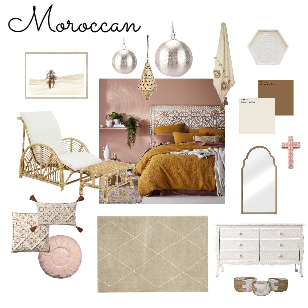 Moroccan Mood Board Interior Design Mood Board by CamilleArmstrong on Style Sourcebook
