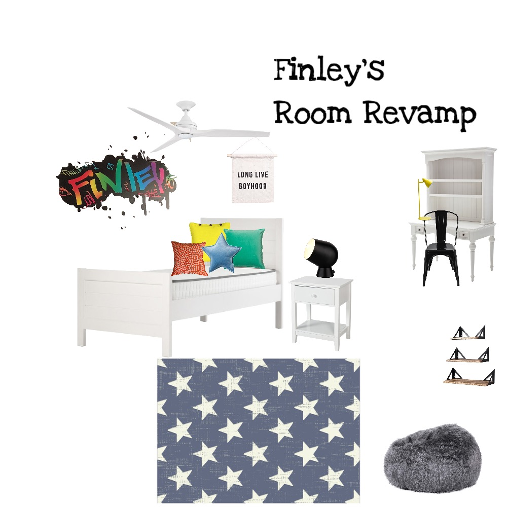 Finley's Room Revamp Interior Design Mood Board by Stacey Newman Designs on Style Sourcebook