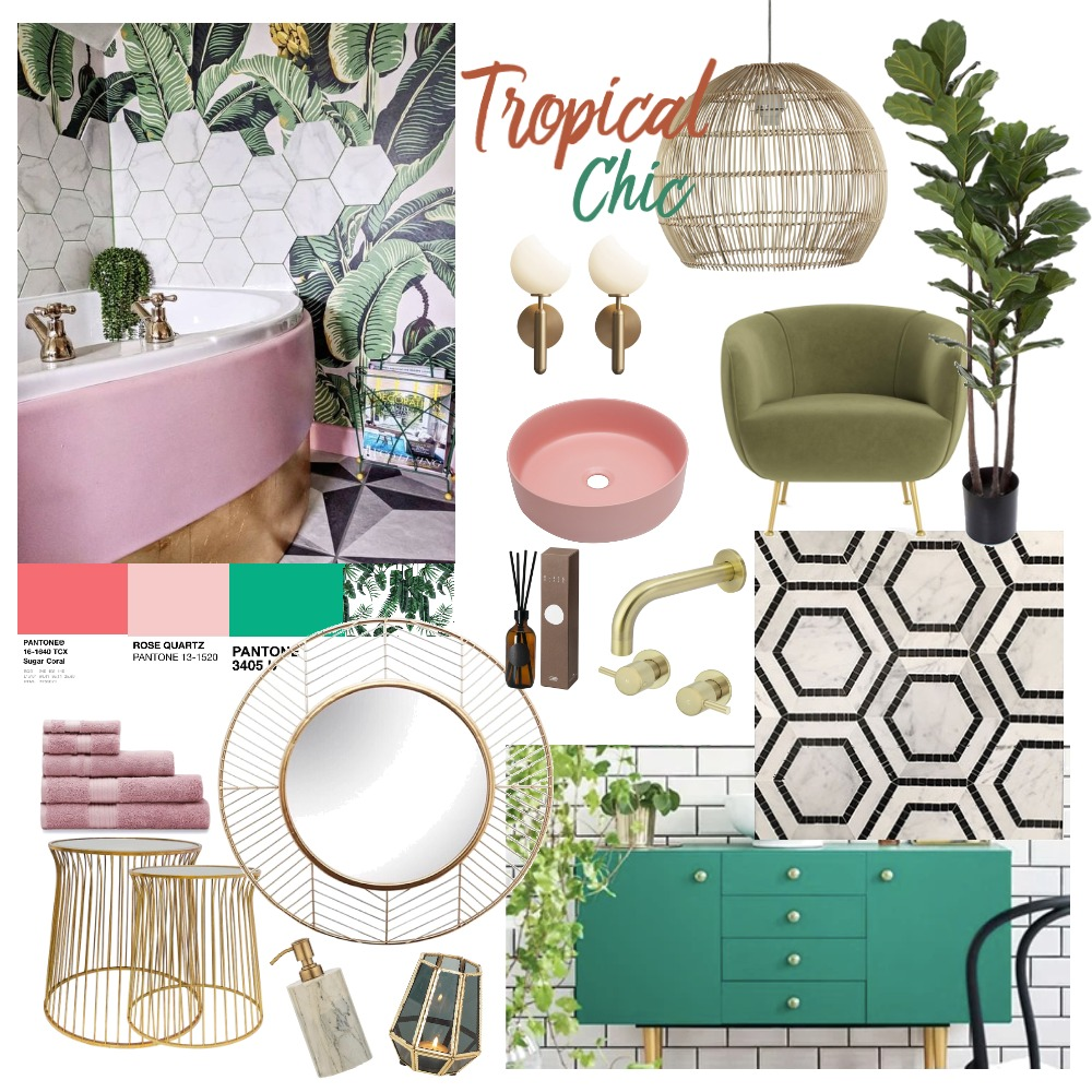 Tropical Chic Interior Design Mood Board by gianelle on Style Sourcebook
