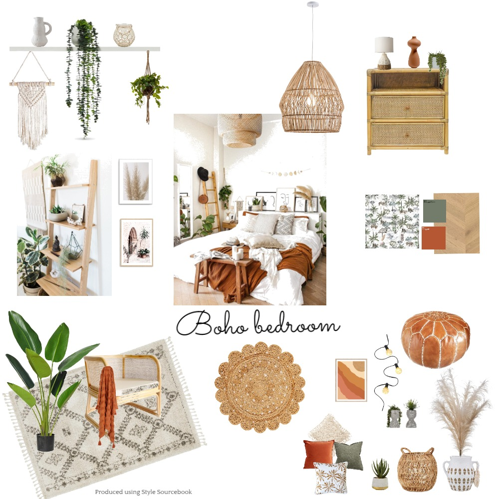 Boho Interior Design Mood Board by dthiele on Style Sourcebook